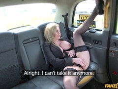 Fake cab blonde cougar Holly Kiss and her excellent hooters screwed roughly