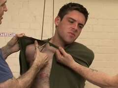 Straight guy Rob comes to do gay BDSM porn