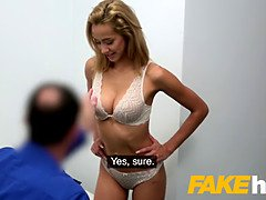 Faux agent cute colombian Veronica Leal deepthroats big dong in audition