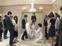 Best man takes bride in japanese wedding 1 - asian