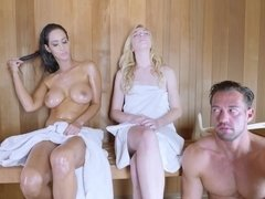 Anal fuck & creampie at sauna with Isis Love