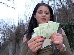 Public Agent Outdoor orgasms for Serbian sweetheart