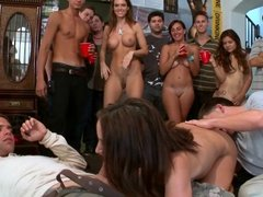 Diamond Kitty, Jennifer Dark and Jada Stevens wild college dorm orgy