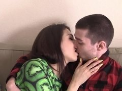 A teenage couple is deeply in love and they want to have some fun