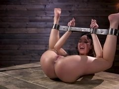 The young babe is into BDSM and will have her pussy molested