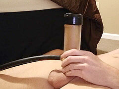 masturbating My pipe With Venus 2000 Sex Machine Until Cum busts Vegaslife486