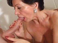 Horny MILFs pounce on hot and youthful guys