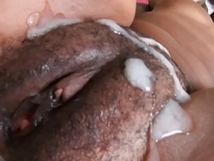 Rookie Ebony Creampie Interracial