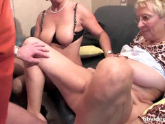 Bbvideo.com German ambisexual cougars sharing a hard sausage