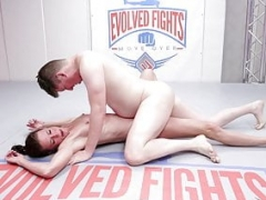 Sofie Marie naked wrestling gets fingered and face fucked