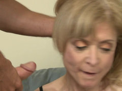 Granny Nina Hartley is hungry for young cock