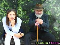 Schoolgirl Abella Danger pussy screwed at the bus stop