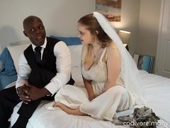 Big Black Cock Wedding With A Naughty Amateur Couple - interracial