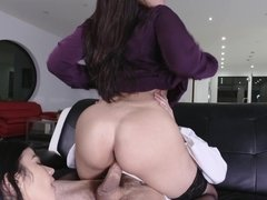 Sadie Pop shares boyfriend's dick with perverted MILF