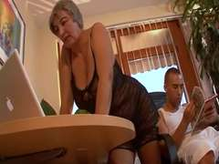 Hungarian Shorthair-Granny with Big-Knockers by youthful Guy