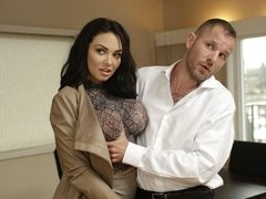 Big-boobed brunette Brooke Beretta loves rough sex so much