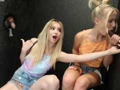 Horny young babes Lexi Lore and Natalia Queen are getting big black dicks
