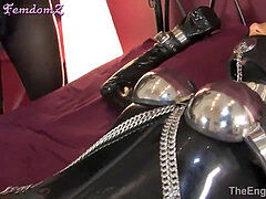 #219 Catsuit purity restrain bondage