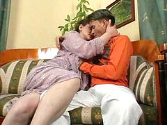 scorching cougar and her younger lover 722