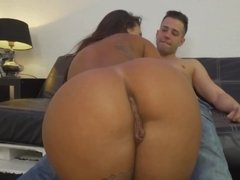 Tattooed beauty sucks and takes a hard dick in POV