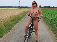 Riding the bike undressed
