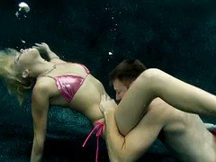 Amazingly gorgeous porn underwater with blond mermaid