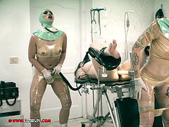 Clinical tantalizes lesbo operating theatre rubber