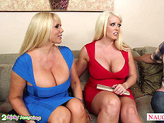 huge-chested Alura Jenson boink in three-way