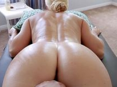 Gave my hot blonde Soccer mom stepmom a massage and a bang