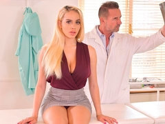 Stunning big-boobed Latina Victoria June nailed in the office