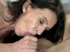 Cock riding and doggystyle sex make old woman really happy
