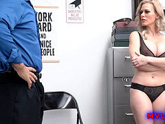 Officer fucks mom, blackmail sex, big dick