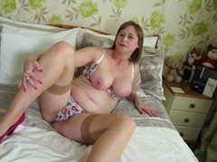British curvy housewife goes wild