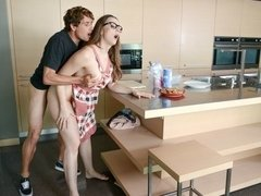 Busty cutie Chanel Preston hard fucked right in the kitchen