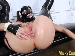 Latex mask facial anal