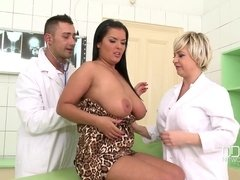 Jasmine Black shares big cock with blonde mature doctor