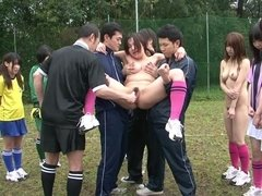A Real Crazy Japanese Sex Perversions On The Football Field