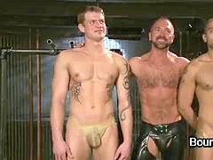 two muscle fags hooded and electric