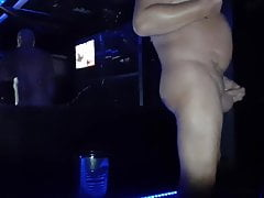 ... naked with mask in a porn cinema !