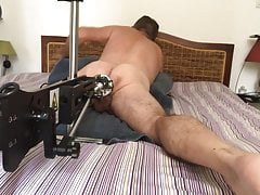 fuck machine session cockring piercing dildo black
