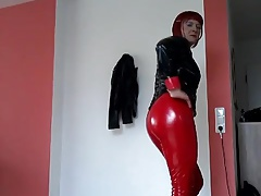 Hot Tranny Ass in PVC