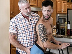 Casey Everett fucked on the floor by step-grandpa Lance Charger