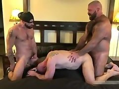 Hot gay bear bareback orgy with final creampie