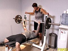 Gym-based anal with relatives Carter Michaels and Jack Dixon