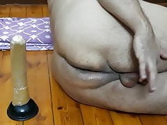 Arab shemale from Egypt anal orgasm with clitty cum