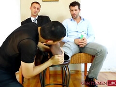 Toe licking and worshipping compilation with hunky gay men