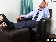 Muscle gay foot with cumshot