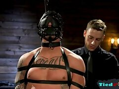 Tattooed stud submits to his sadist master