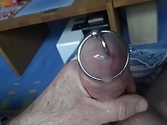 Glans ring wank slow motion