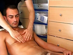 Very handsome french dude get jacked his fat dick by us in spite of him!